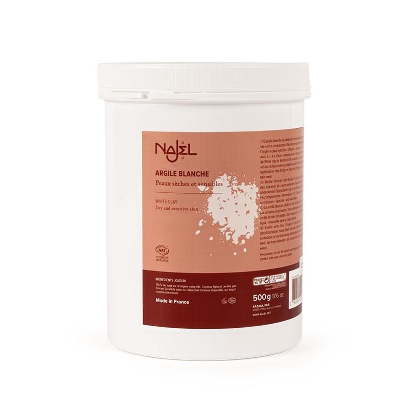 White clay 500 g - Argile blanche - Najel