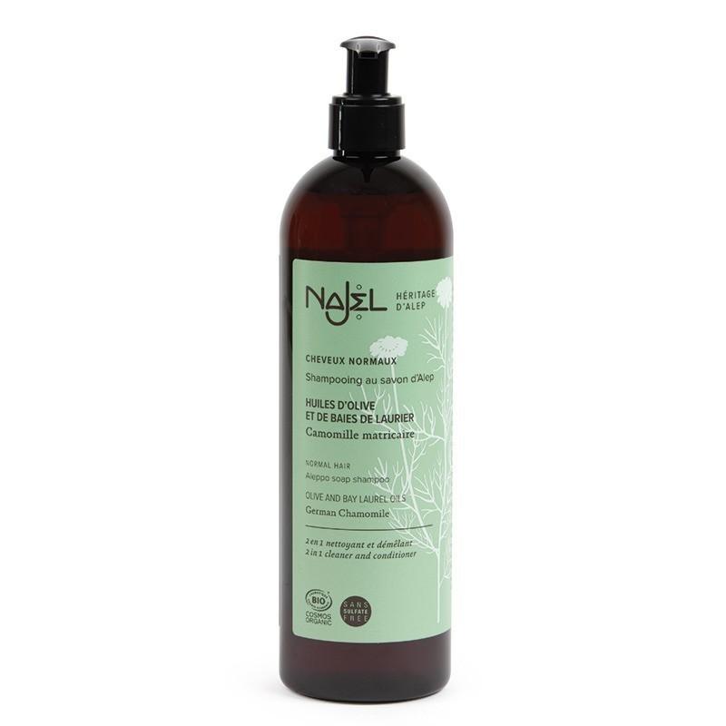 Shampoo 2 in 1 al sapone di Aleppo alla camomilla - capelli normali  - Najel
