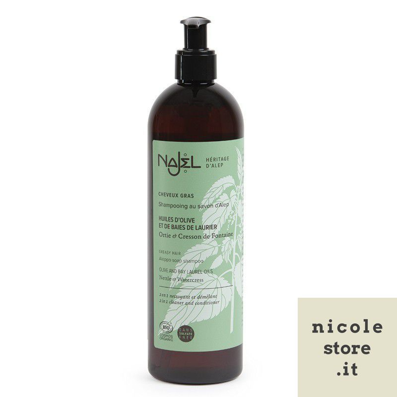 Aleppo soap 2 in 1 shampoo with nettle and English cress - oily hair - Najel