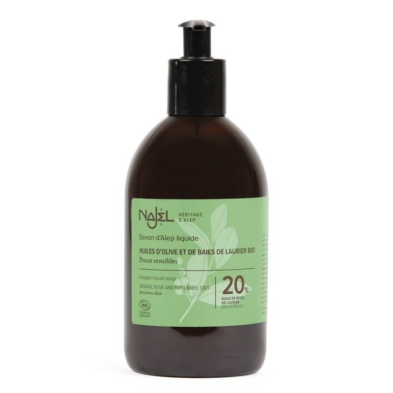 Aleppo liquid organic soap with 20% laurel berry oil 500 ml Najel