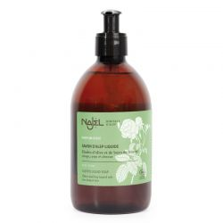 Aleppo liquid organic soap with Damascus Rose floral water 500 ml Najel