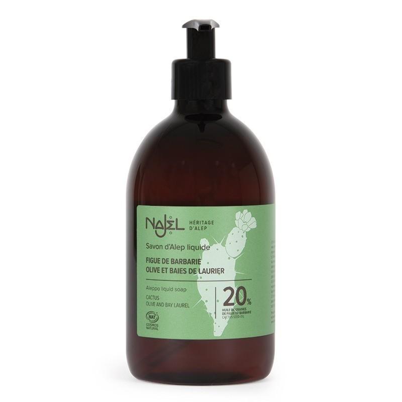 Aleppo liquid soap with 20% prickly pear oil 500 ml Najel