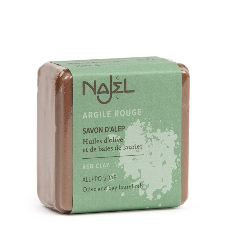 Aleppo soap with red clay 100 g - Savon d'Alep à l'argile rouge - Najel