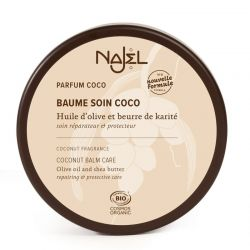 Organic Coconut Cosmetic Balm 100 g - Baume soin coco - Najel