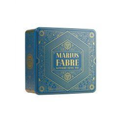 "Large Art Deco tin gift box - Boîte métal coffret or ""Noël"" - Marius Fabre"