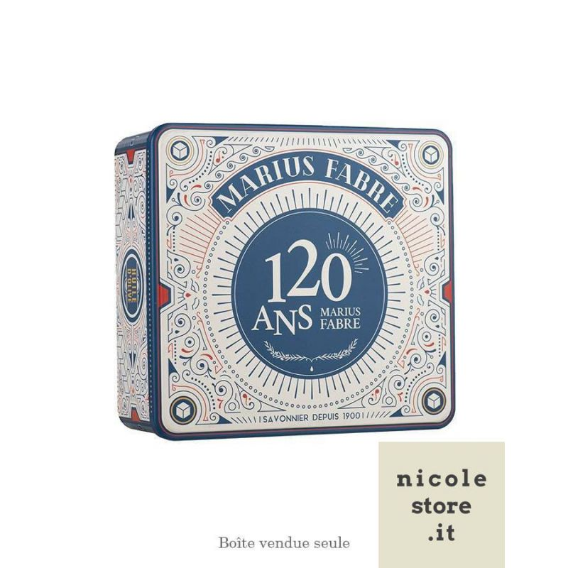 """Large tin gift box 120 years - Boîte métal coffret or """"Collector 120 ans"""" - Marius Fabre"""