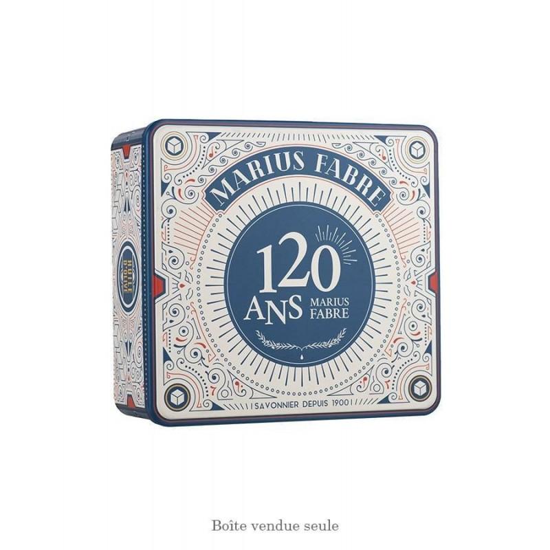 """Scatola regalo grande in latta 120 anni - Boîte métal coffret or """"Collector 120 ans"""" - Marius Fabre"""