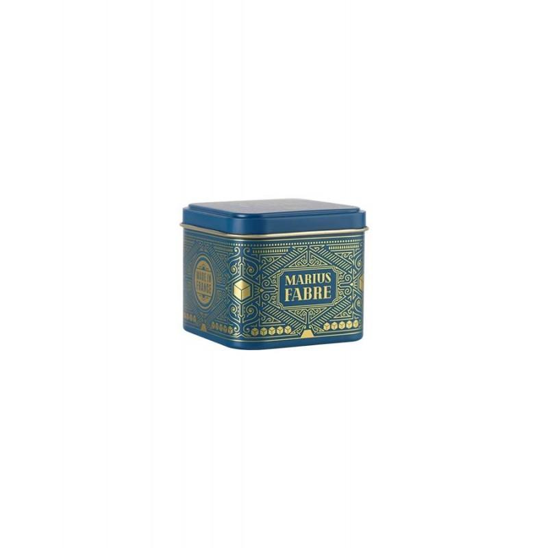 "Small Art Deco tin gift box - Boîte métal coffret or ""Noël"" - Marius Fabre"