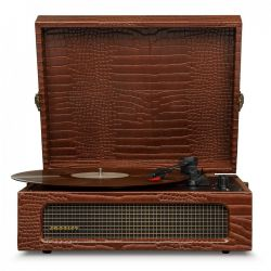 Crosley Voyager Brown Crocodile di Crosley