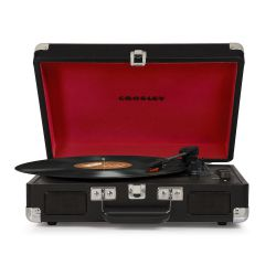 Crosley Cruiser Deluxe Black Stereo Bluetooth Portable Turntable  by Crosley