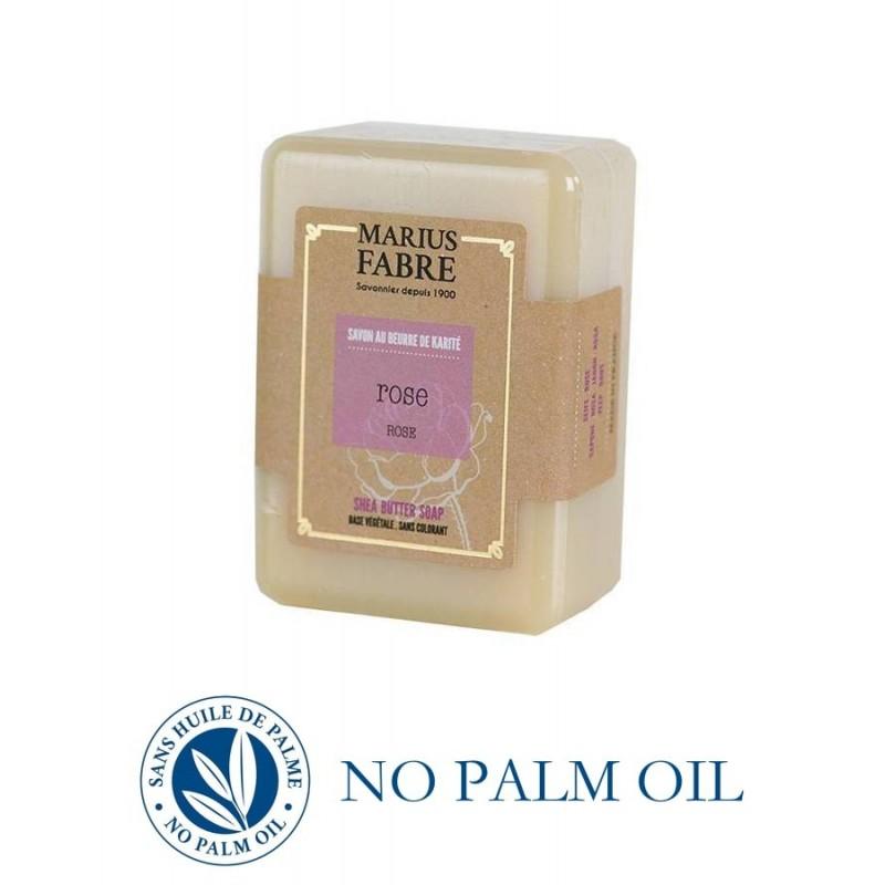 Sapone puro di Marsiglia alla Rosa saponetta 150 g con burro di karité Le Bien-être di Marius Fabre