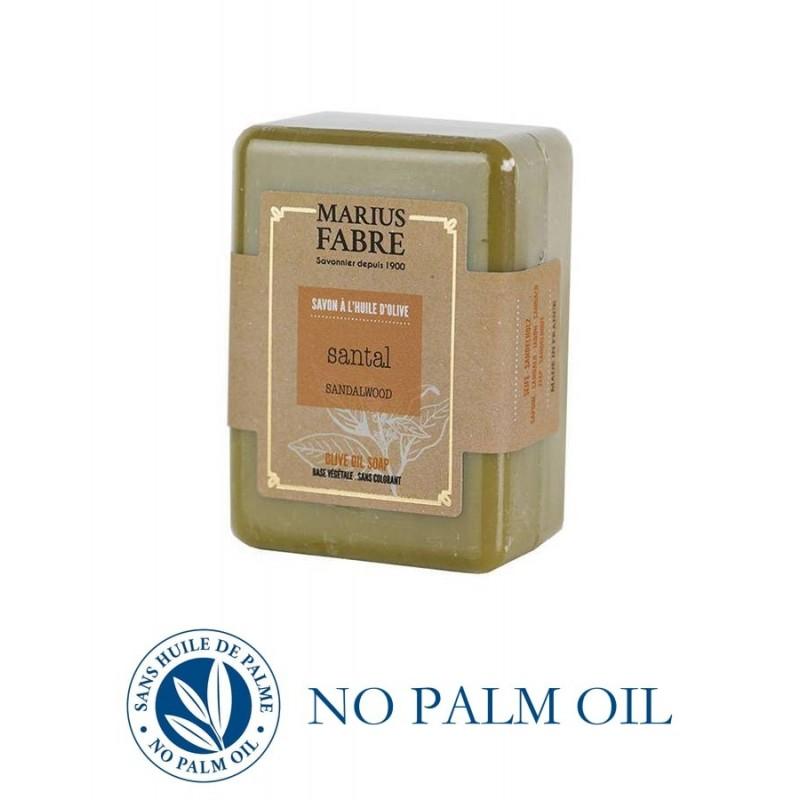Pure Marseille soap with sandalwood 150 g soap bar with olive oil Le Bien-être by Marius Fabre