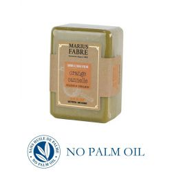 Pure Marseille soap with orange and cinnamon 150 g soap bar with olive oil Le Bien-être by Marius Fabre