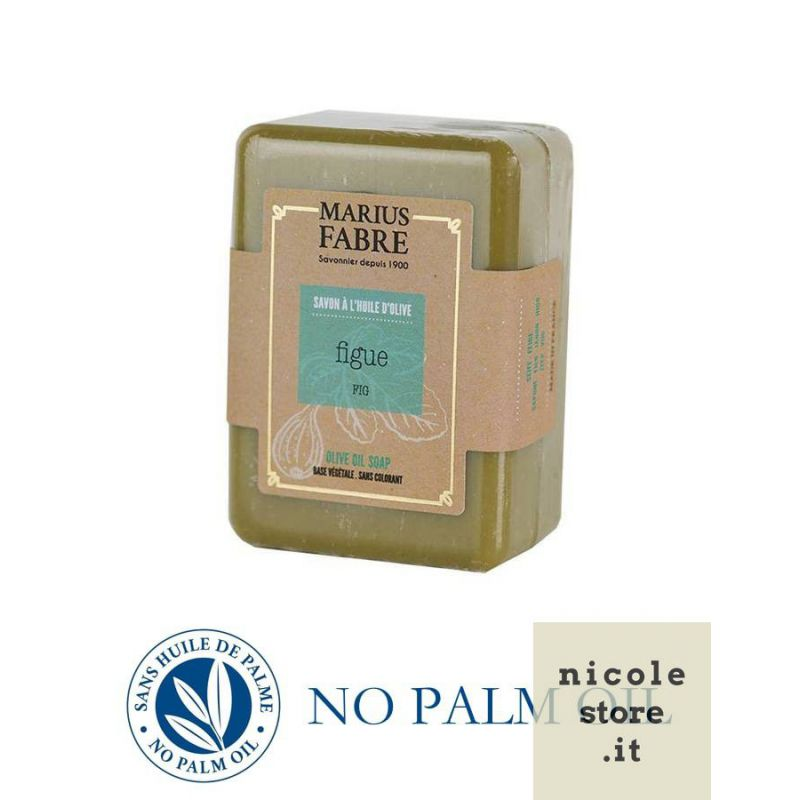 Pure Marseille soap with fig 150 g soap bar with olive oil Le Bien-être by Marius Fabre