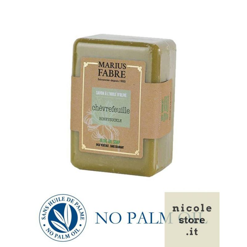 Sapone puro di Marsiglia al caprifoglio saponetta 150 g all'olio d'oliva Le Bien-être di Marius Fabre