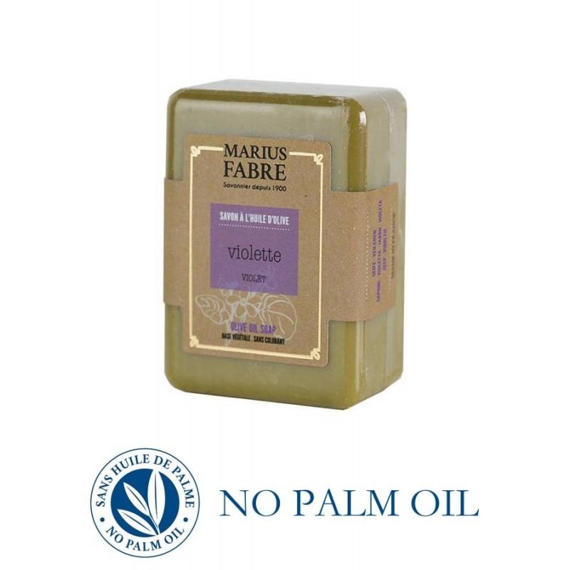 Pure Marseille soap with violette 150 g soap bar with shea butter Le Bien-être by Marius Fabre
