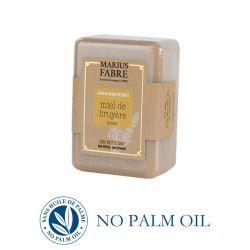Pure Marseille Soap with heath honey 150 g soap bar with shea butter Le Bien-être by Marius Fabre