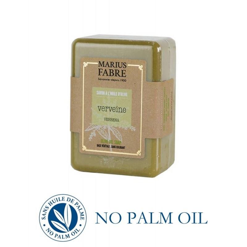 Pure Marseille soap with verbena 150 g soap bar with olive oil Le Bien-être by Marius Fabre