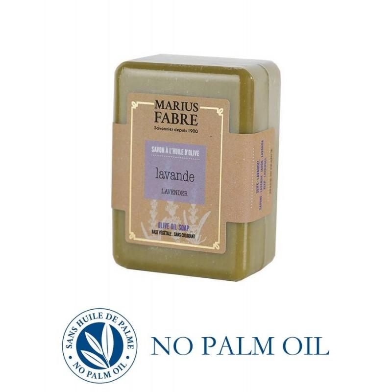 Sapone puro di Marsiglia alla lavanda saponetta 150 g all'olio d'oliva Le Bien-être di Marius Fabre