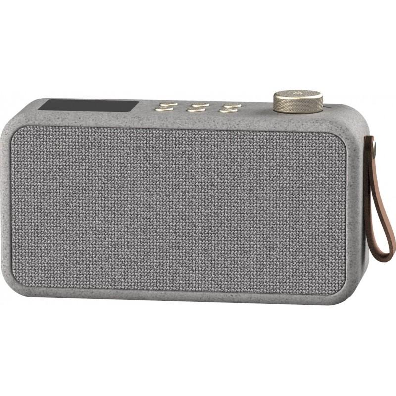 Kreafunk aTune Care digital alarm clock radio DAB + and FM wireless speaker in wheat fiber by Kreafunk
