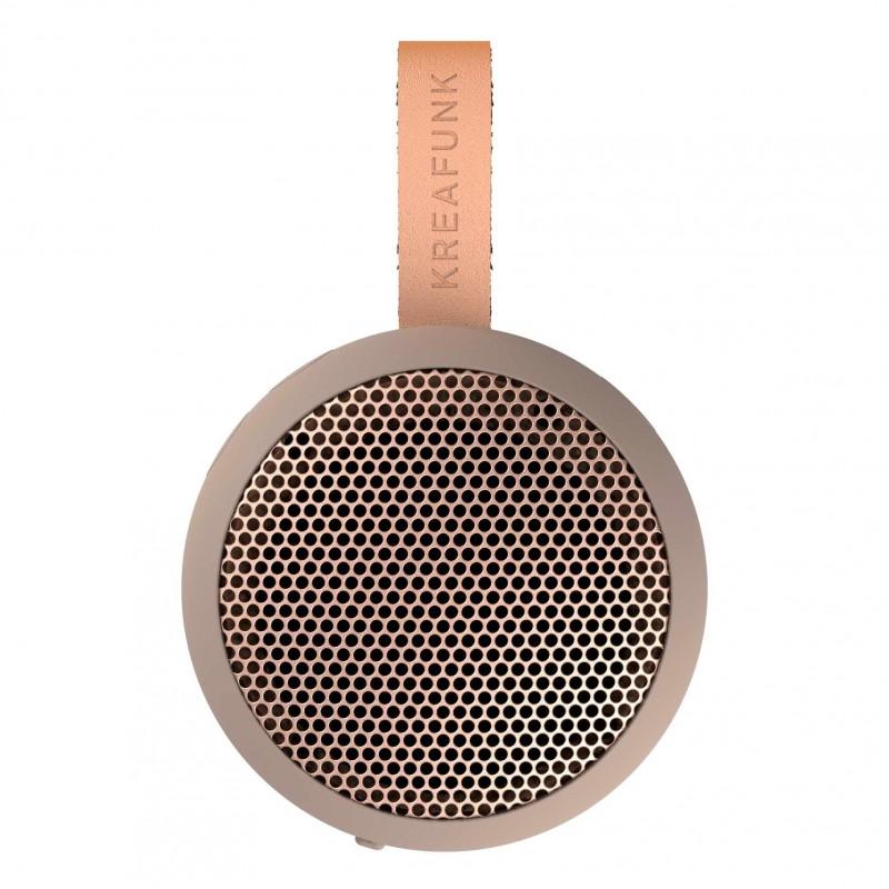 Kreafunk aGo Ivory Sand mini altoparlante wireless nero con microfono di Kreafunk