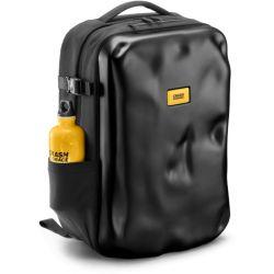 ICONIC backpack black - zaino semi rigido in materiale riciclato nero - Crash Baggage