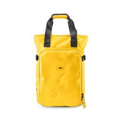 CNC tote bag yellow - borsa a mano e zaino gialla in materiale tecnico riciclato - Crash Baggage