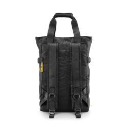 CNC tote bag black - borsa a mano e zaino nera in materiale tecnico riciclato - Crash Baggage