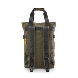 CNC tote bag olive - borsa a mano e zaino nera in materiale tecnico riciclato - Crash Baggage