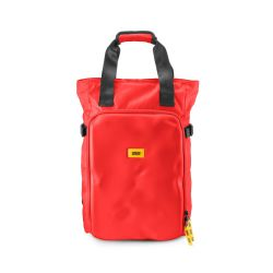 CNC tote bag red - handbag and backpack in recycled technical material - Crash Baggage