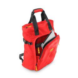 CNC tote bag red - borsa a mano e zaino rossa in materiale tecnico riciclato - Crash Baggage
